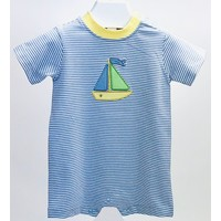 Ishtex Textile Products, Inc Sailboat Applique Romper