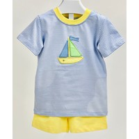 Ishtex Textile Products, Inc Sailboat Applique Boy's Short Set