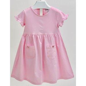 Ishtex Textile Products, Inc Solid Pink Empire Dress