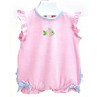 Ishtex Textile Products, Inc Fish Pink Stripe Bubble