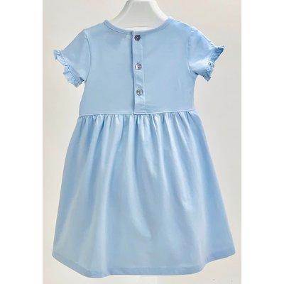 Ishtex Textile Products, Inc Solid Blue Empire Dress