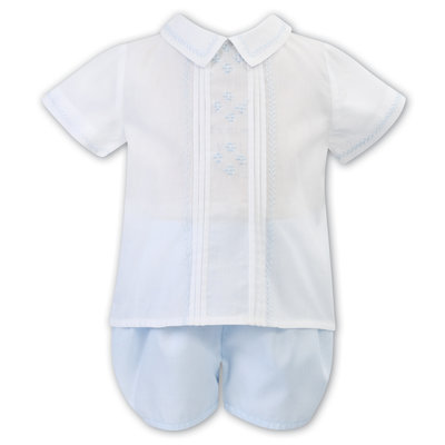 Sarah Louise White/Lt. Blue 2Pc Set
