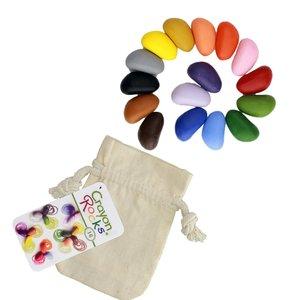 16 Colors in a Muslin Bag Crayon Rocks