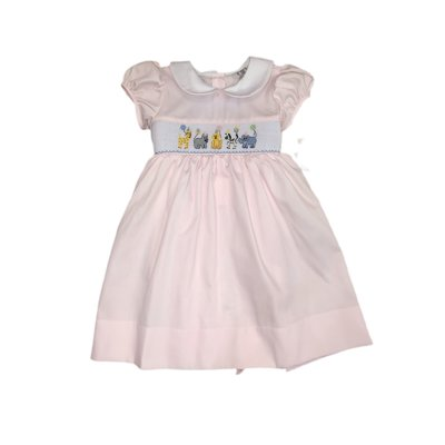 Lulu Bebe LLC Smocked Animal Birthday Dress
