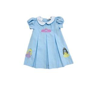 Lulu Bebe LLC Pink Crown Embroidered Dress