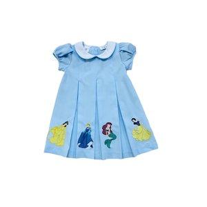 Lulu Bebe LLC Blue Embroidered Princess Dress