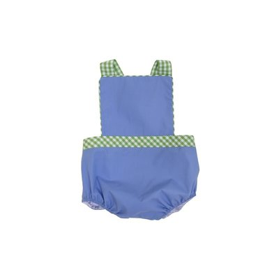 Beaufort Bonnet Company Park City Periwinkle/Grenada Green Gingham Seabrook Sunsuit