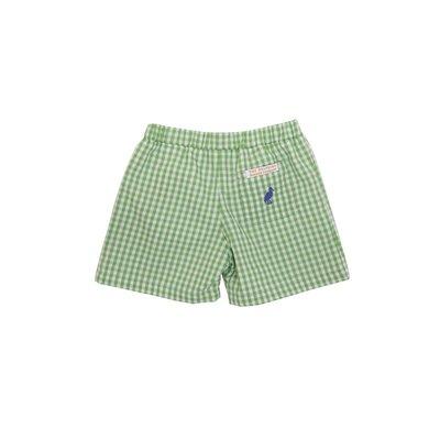 Beaufort Bonnet Company Grenada Green Gingham/Park City Periwinkle Shelton Shorts