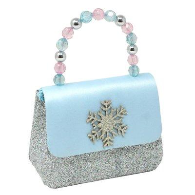 Pink Poppy USA Snow Princess Sparkle Snowflake Hard Handbag