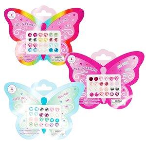 Pink Poppy USA Blossom 12Pk Stick On Earrings