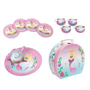 Pink Poppy USA Mystic Mermaid Tea Set in Carry Case