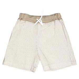 Luigi Sand/White Seersucker Waistband w/Tie Short