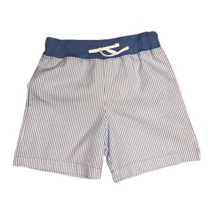 Luigi Chambray/White Seersucker Waistband w/Tie Short