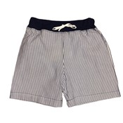 Luigi Navy/White Seersucker Waistband w/Tie Shorts