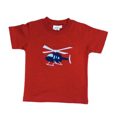 Luigi Deep Red Helicopter T'shirt