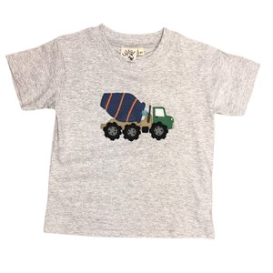 Luigi Heather Gray Cement Truck T'shirt