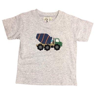 Luigi Heather Gray Cement Truck T'shirt