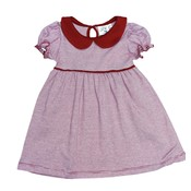 Luigi Deep Red Stripe Knit Dress