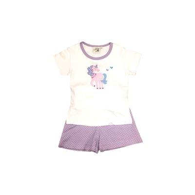 Luigi Unicorn Lavender Dot Short Set
