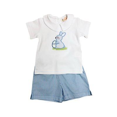 Luigi Easter Bunny Knit Short Set