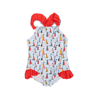The Oaks Apparel Alys Sailboat 1PC Swimsuit
