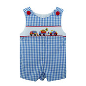 Zuccini Construction Smocked Shortall