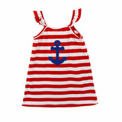 Zuccini Anchor Applique Petunia's Play Dress