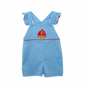 Zuccini Sailboat Applique Ginny Overall