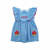 Zuccini Sailboat Applique Delilah Dress