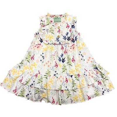 Sage & Lilly Grayton Garden Floral Knit Riley Ruffle Neck Dress