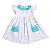 Baby Bliss Mermaid and Sea Friends Pima Dress