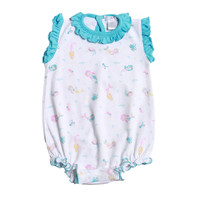 Baby Bliss Mermaid and Sea Friends Pima Bubble