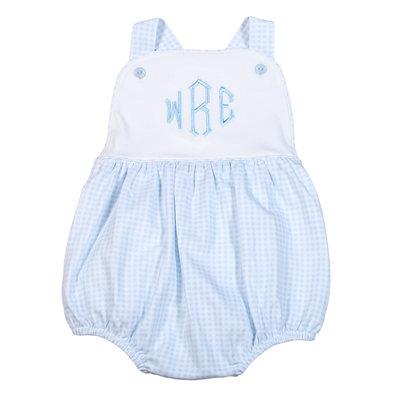 Baby Bliss Peter Blue Gingham Pima Sun Bubble