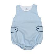 Baby Bliss Tony Blue Tiny Stripes Pima Bubble w/Tabs