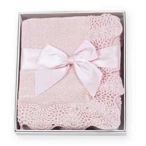 Bearington Collection Vintage Blanket-Pink