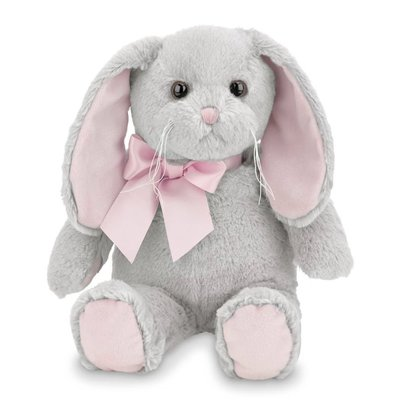 Bearington Collection Lil Mopsy Gray Bunny w/Pink Ears