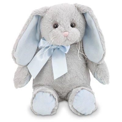 Bearington Collection Lil Hopsy Gray Bunny w/Blue Ears