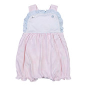 Baby Bliss Abby Pink/Blue Gingham Pima Sunbubble
