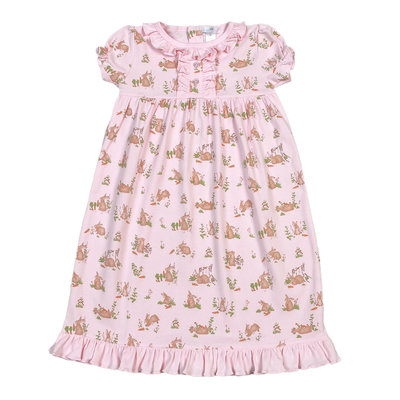Baby Bliss Pink Bunnies Pima Nightgown