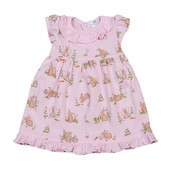 Baby Bliss Pink Bunnies Pima Doll Nightgown