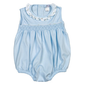 Baby Bliss Lulu Blue Hand Smocked Bubble