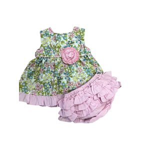 Natalie Grant Pink Floral Bloomer Set