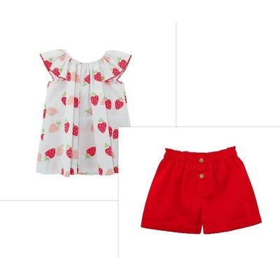 Zuccini Strawberry Shortcake Short Set