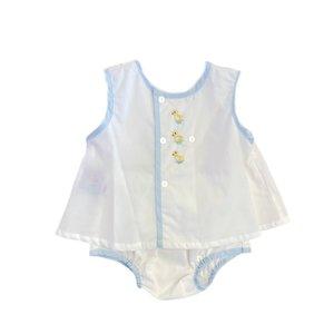 Remember Nguyen White Duckies Boy Diaper Set