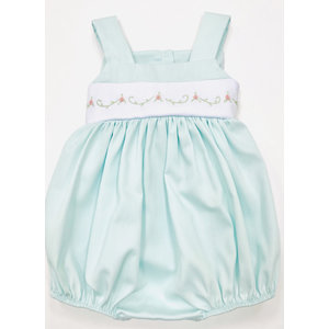 Lulu Bebe LLC Mint Pique Embroidered Waist Bubble