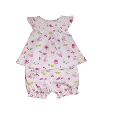 Kissy Kissy Ocean Oasis Pink Sunsuit Set