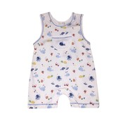 Kissy Kissy Ocean Oasis Sleeveless Short Playsuit