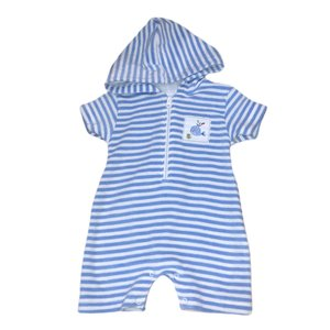 Kissy Kissy Ocean Oasis Blue/White Stripe Terry Romper