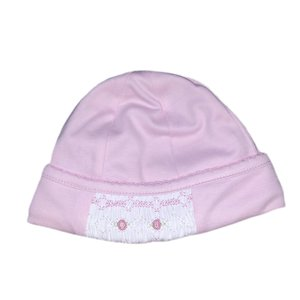 Magnolia Baby Mandy and Mason's Classic Smocked Hat - Pink