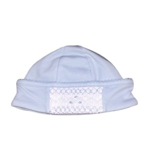 Magnolia Baby Mandy and Mason's Classic Smocked Hat - Lt Blue